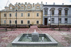 Town square of Sanok Royalty Free Stock Photos