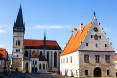 Town Square of Slovakian Bardejov. Stock Photos
