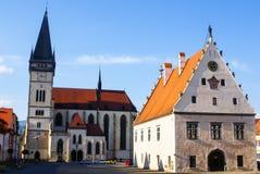 Town Square of Slovakian Bardejov. Stock Photos