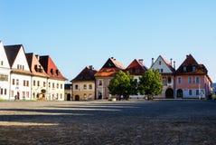 Town Square of Slovakian Bardejov. stock image