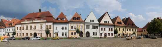 Town Square of Slovakian Bardejov. Stock Photography
