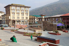Town square in Thimphu, Bhutan Royalty Free Stock Photography
