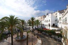 Town square, Vejer de la Frontera. Royalty Free Stock Photos
