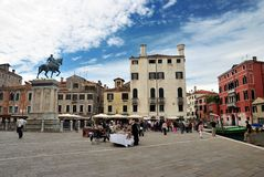 Town square in Venice Royalty Free Stock Photos
