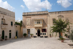 Town square in victoria village on gozo royalty free stock photography