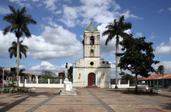 Town square in vinales, cuba Royalty Free Stock Photos