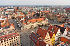 Town square in Wroclaw, Poland Stock Photos