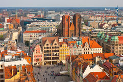 Town square in Wroclaw, Poland Stock Images