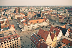 Town square in Wroclaw, Poland Stock Photography