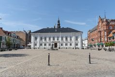 Town square at Ystad in Sweden Stock Photos