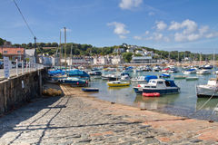 Town of St. Aubin and harbour, Jersey, UK Royalty Free Stock Images