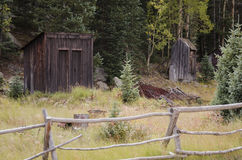 The town of St. Elmo in Colorado. St. Elmo is a ghost town in Chaffee County Colorado. It was a gold town in 1880 with over 2000 people. The town was abandoned royalty free stock photo