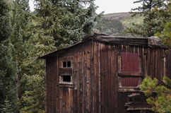The town of St. Elmo in Colorado. St. Elmo is a ghost town in Chaffee County Colorado. It was a gold town in 1880 with over 2000 people. The town was abandoned stock photography