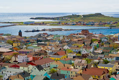 Town of St-Pierre. St-Pierre et Miquelon, France, North America stock photography