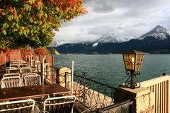 Town St. Wolfgang on Wolfgangsee lake in Austria Stock Image