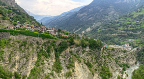 Town Stalden Saas, Valais, Switzerland Royalty Free Stock Photography