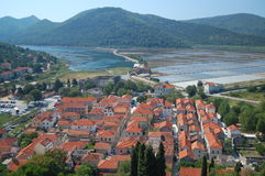 The town of Ston, Croatia Royalty Free Stock Photos