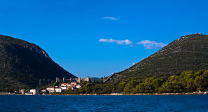 Town Ston near Dubrovnik royalty free stock image