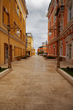 Town street. Street on the bautifull city with no people Stock Image