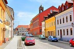 Town street in Koenigsbrueck Stock Photo