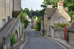 Town Street View. General Street View in an Old English Town - Namely Bradford on Avon in Wiltshire England Royalty Free Stock Images