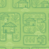 Town streets seamless pattern background Royalty Free Stock Image