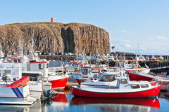 The town of Stykkisholmur, Snaefellsnes peninsula, Iceland Royalty Free Stock Photos