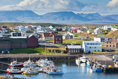 The town of Stykkisholmur, the western part of Iceland Stock Images