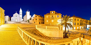 Town of Supetar on Brac island evening panorama Stock Photos