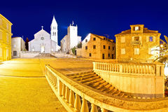 Town of Supetar on Brac island evening panorama Royalty Free Stock Images