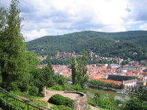 Town surrounded by forest Royalty Free Stock Photography