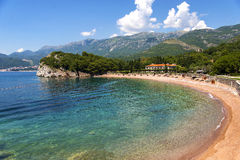 Town Sveti Stefan in Montenegro Stock Image