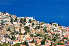 The town of Symi island in Greece Stock Image