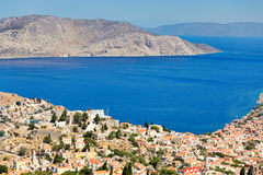 The town of Symi island in Greece Royalty Free Stock Photo