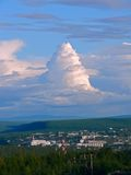 Town taiga clouds Stock Photography