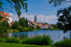 Town Telč Stock Image