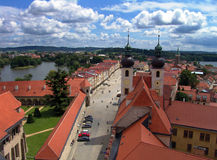 The town Telc, Bohemia Royalty Free Stock Image