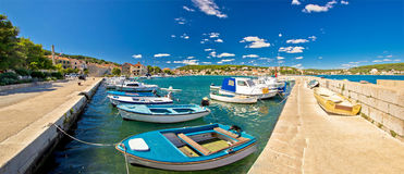 Town of Tisno on Murter island Stock Images