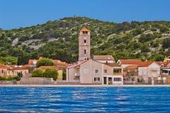 Town of Tisno waterfront, Croatia Stock Photos