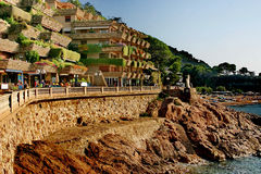 The town Tossa de Mar Royalty Free Stock Image
