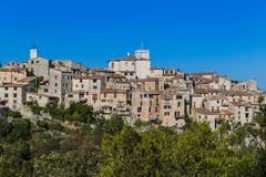 Free Town Tourrettes-sur-Loup In Provence France Royalty Free Stock Photography - 114528837
