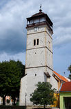 The Town tower, city Roznava, Slovakia. The Town tower was built between 1643 and 1654, in the middle of the square royalty free stock photography
