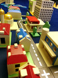 Town toy. Colorful town toy made from wood Royalty Free Stock Photos