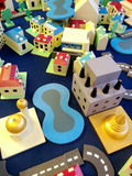 Town toy. Colorful town toy made from wood Stock Images