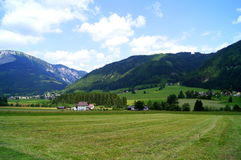 The town Tragoess, Austria. Tragöß (or Tragoess) is a municipality in the district of Bruck an der Mur in Styria, Austria. It is home to Green Lake (Grüner Royalty Free Stock Photos