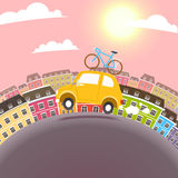 Town Travel Illustration Stock Photography