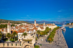 Town of Trogir rooftops and landmarks view Stock Image
