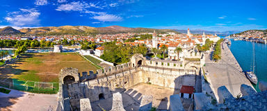Town of Trogir rooftops and landmarks view Stock Images