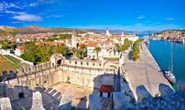 Town of Trogir rooftops and landmarks view Stock Photo