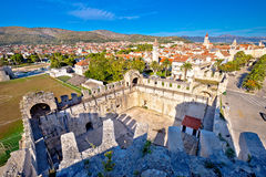Town of Trogir rooftops and landmarks view Stock Photography